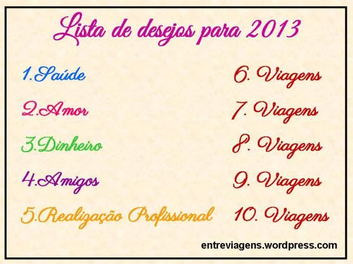 Lista de Desejos 2013