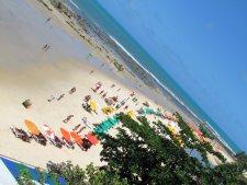 Visão da Praia de Pipa do restaurante Lua Cheia.