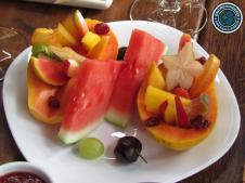 Linda e gostosa salada de frutas.
