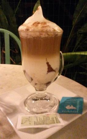 Cappuccino do Café da Santa.